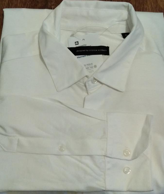 Рубашка из мерсеризованного хлопка р. 39 от дизайнера steffen ... - Фото 5