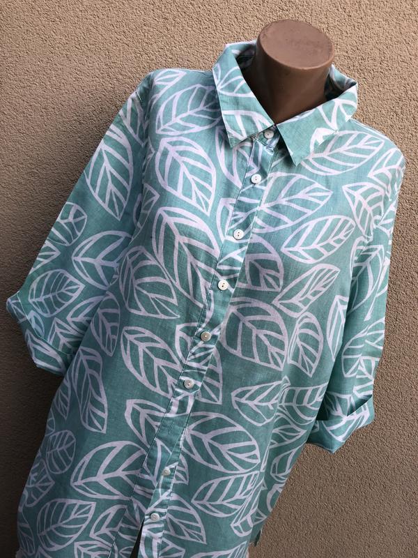 Рубашка,блуза,туника,лён 100%,большой размер,батал,