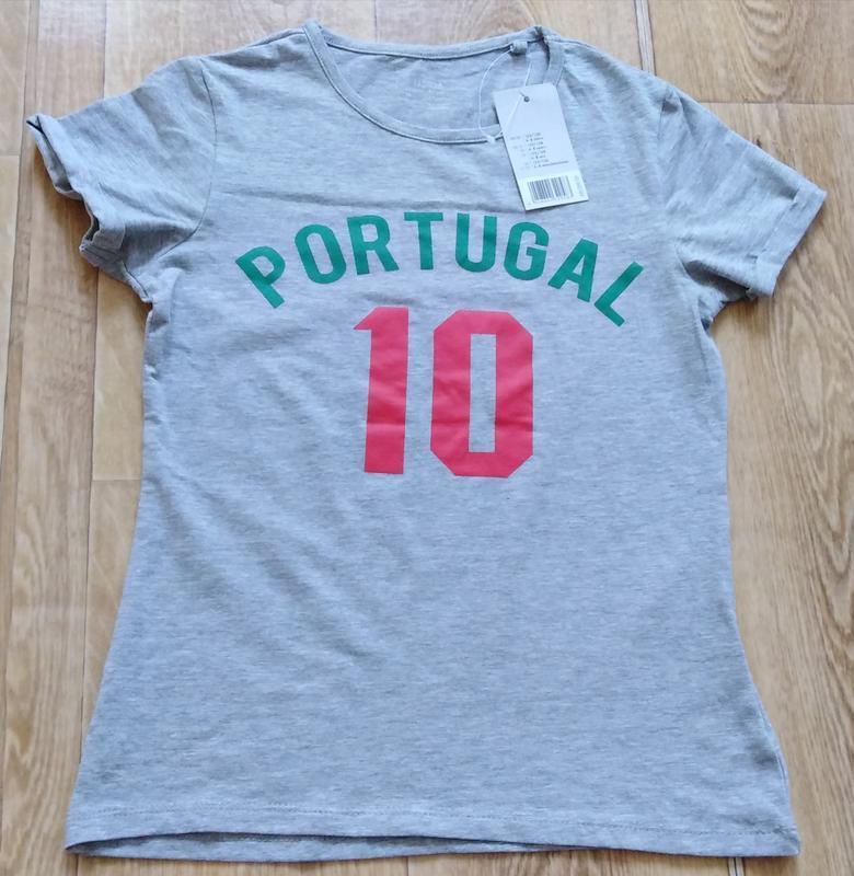 Футболка футбольная р. 110 116 122 128 134 140 portugal 10 про...