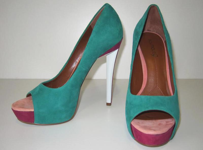Летние замшевые туфли nine west - Фото 3