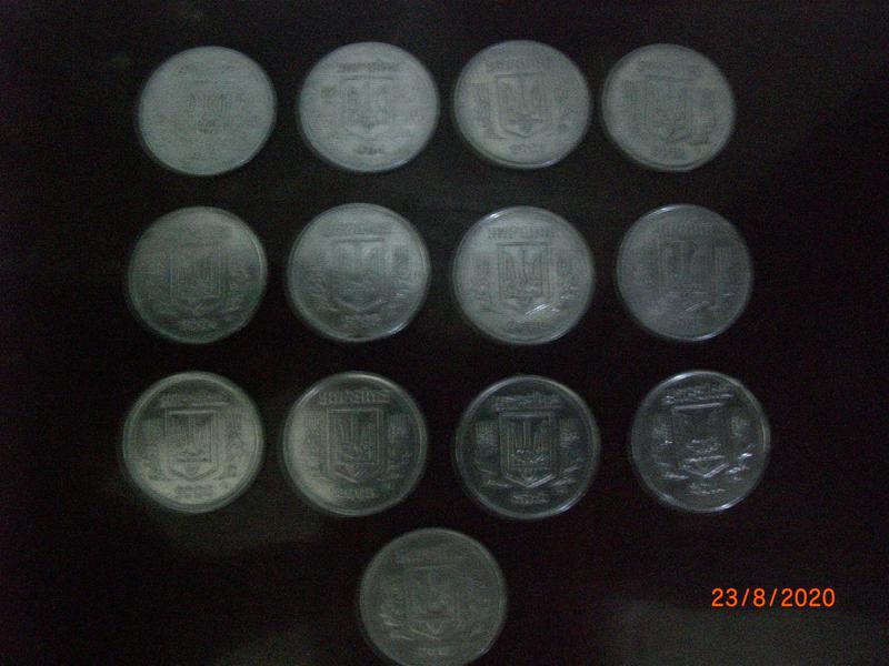 Монеты Украины 2 коп 1993г. 1994г. и далее