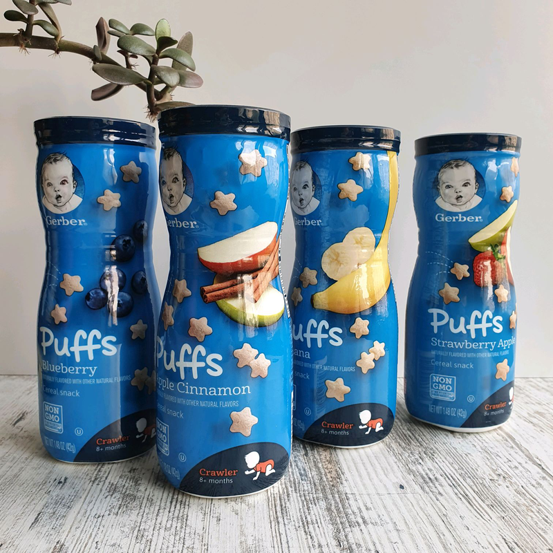 Gerber puffs от 8 месяцев снеки детские