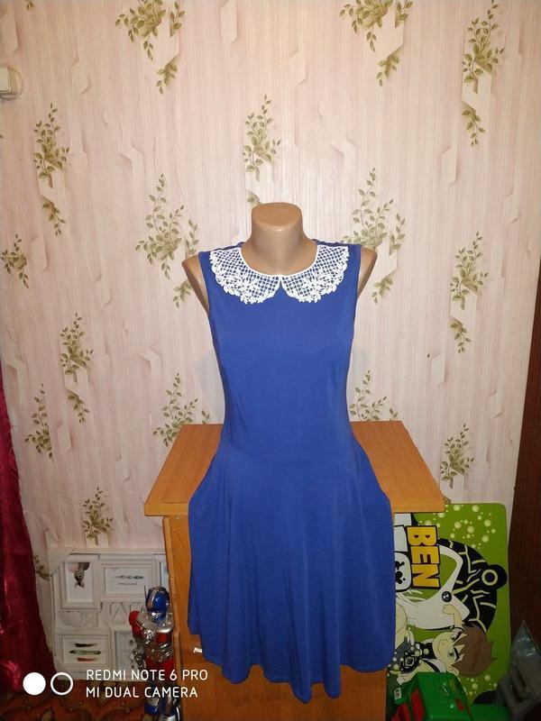 Платье-миди с ажурным воротничком от dorothy perkins