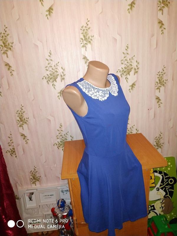 Платье-миди с ажурным воротничком от dorothy perkins - Фото 3