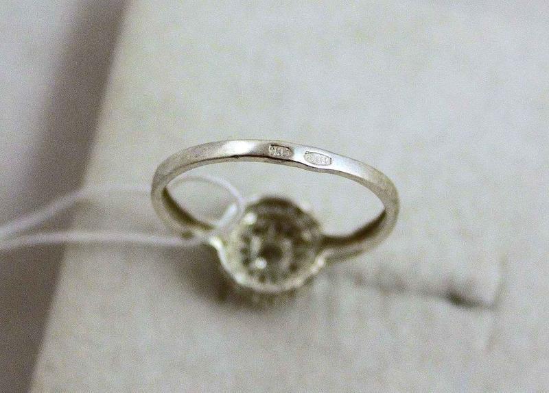 Кольцо серебро 925 проба 17.5 размер - Фото 8