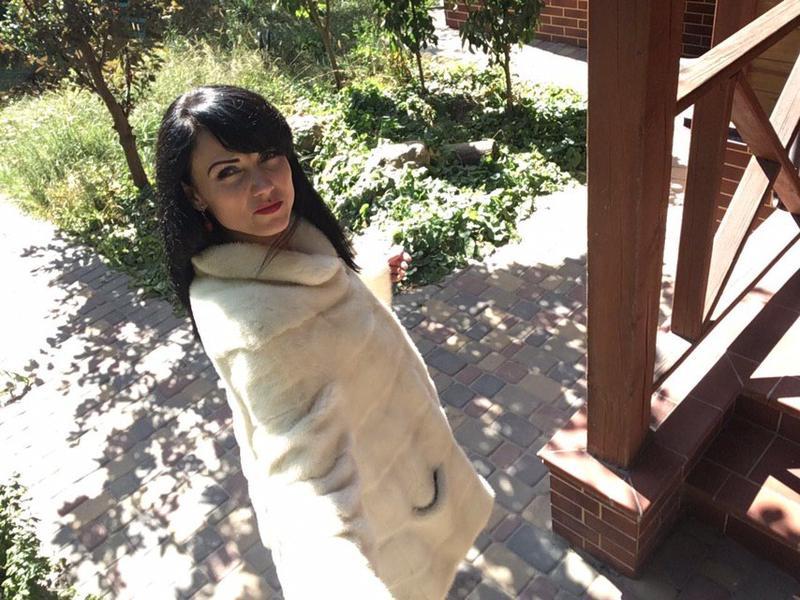 Норковая шуба белая монто - Фото 13