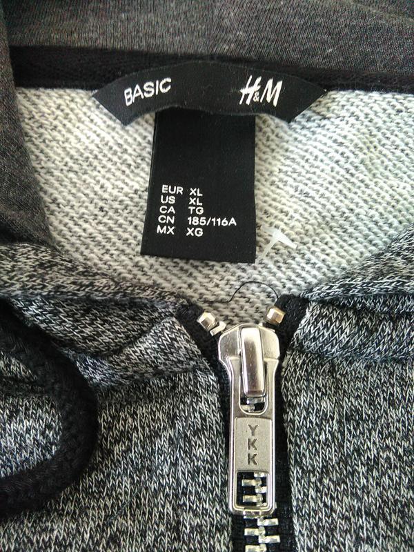 Курточка на молнии с капюшоном h&m - Фото 2