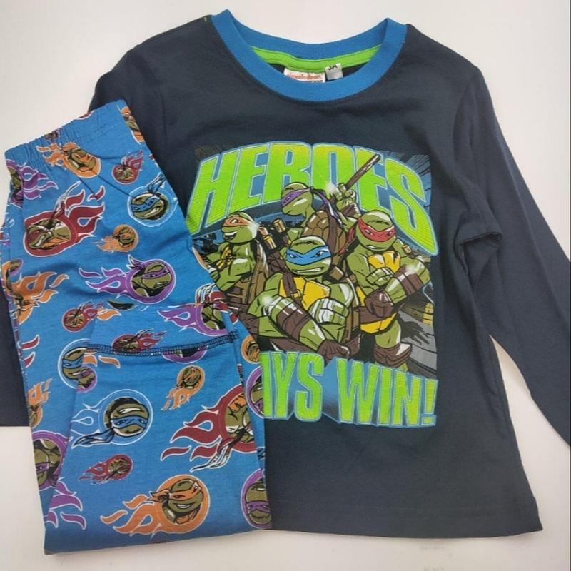 Детская хлопковая пижама черепашки ниндзя