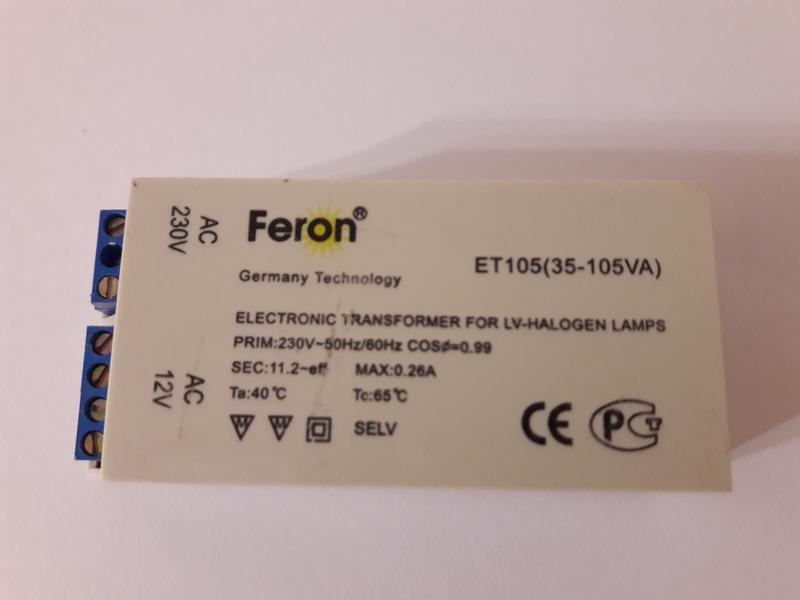Электронный трансформатор Feron ET105 35 -105VA  Германия
