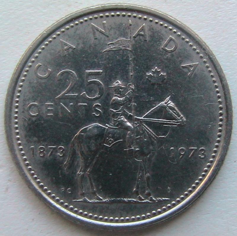 Канада 25 центов 1973 конная полиция Канады Police