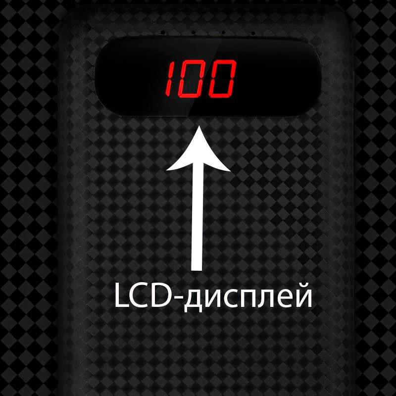 Внешний аккумулятор с LCD-дисплеем Power Bank AWEI P70K. NEW. - Фото 7