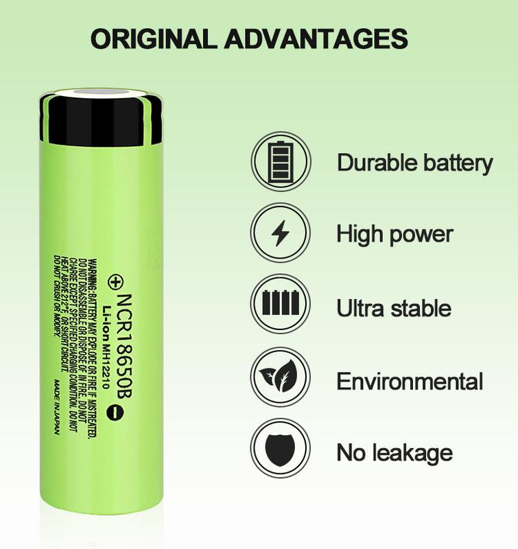 Аккумуляторная батарея 3 шт. Panasonic NCR18650B 3.7В 3400 mAh - Фото 6