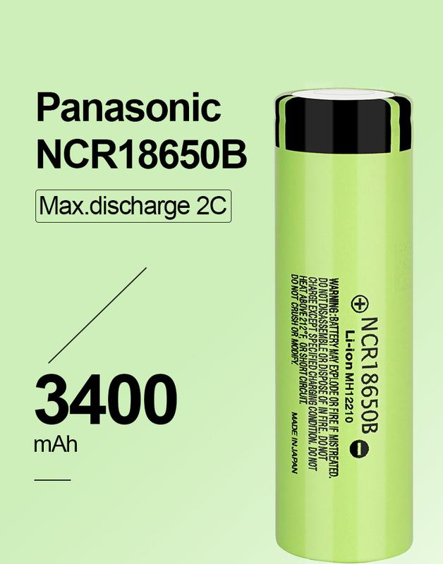 Аккумуляторная батарея 3 шт. Panasonic NCR18650B 3.7В 3400 mAh - Фото 7