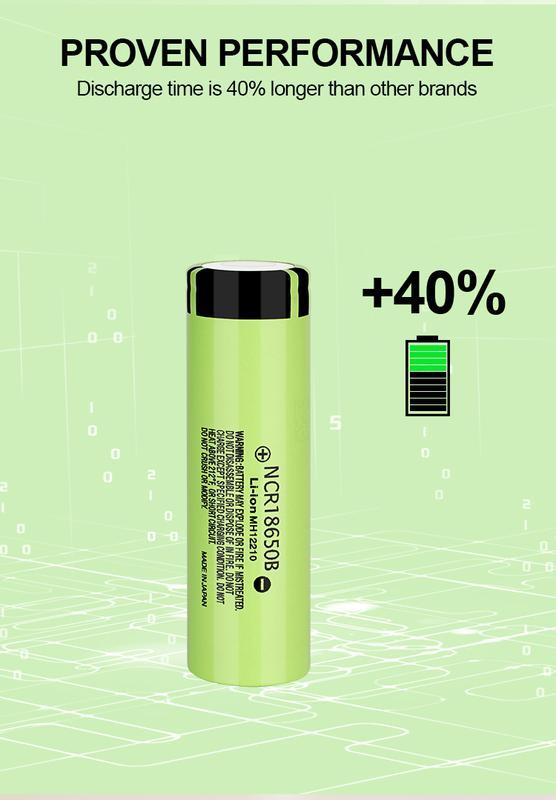 Аккумуляторная батарея 3 шт. Panasonic NCR18650B 3.7В 3400 mAh - Фото 8