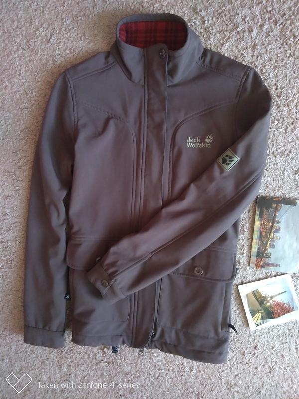 Куртка ветровка jack wolfskin stormlock женская xs джек вольфскин - Фото 2
