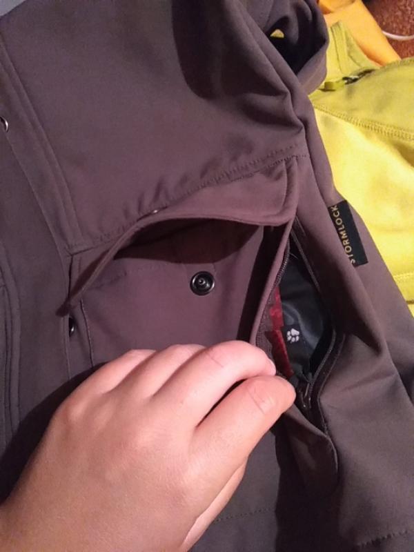 Куртка ветровка jack wolfskin stormlock женская xs джек вольфскин - Фото 7