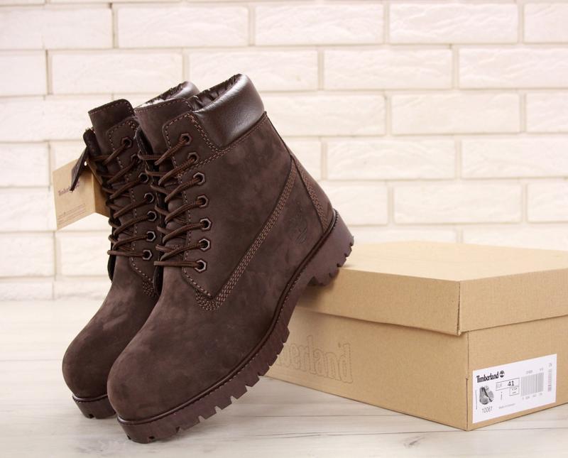 Натуральные ботинки на зиму