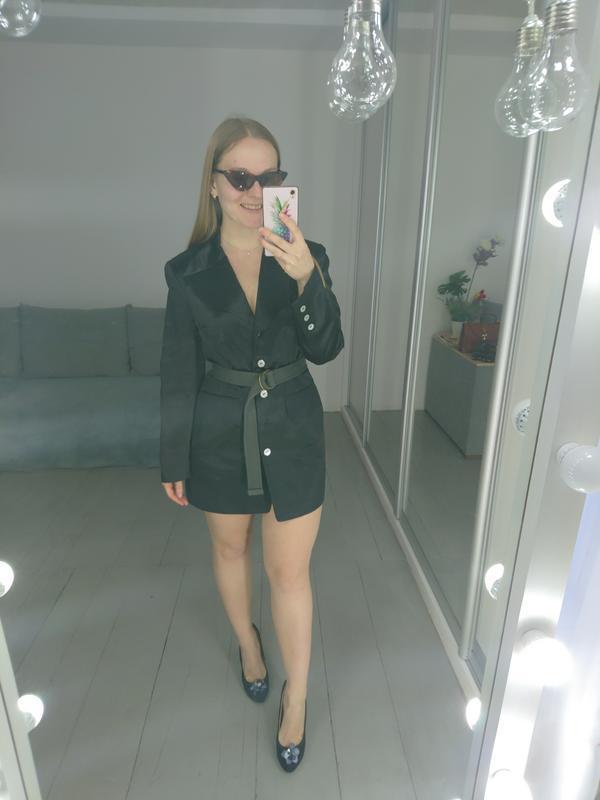 Актуальный удлиненный пиджак платье №2max - Фото 6