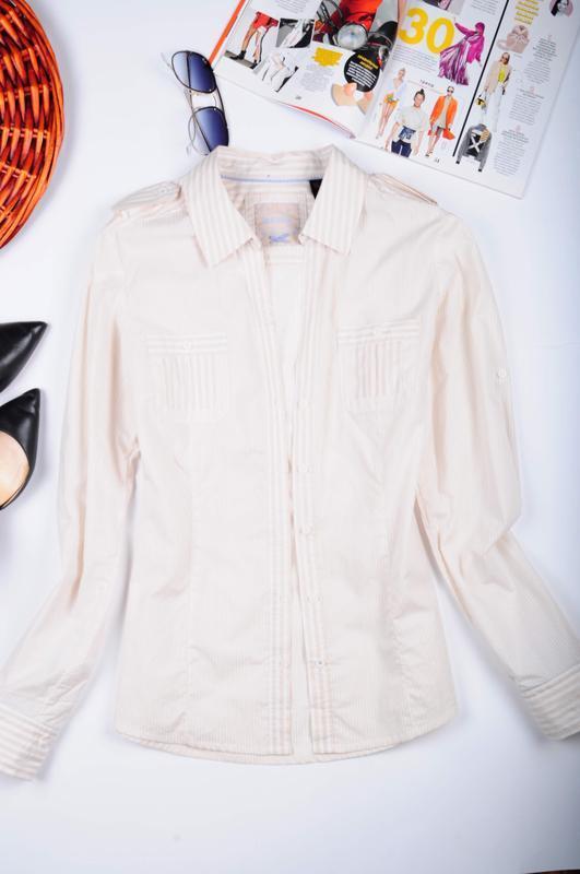 Рубашка в полоску с длинным рукавом mango