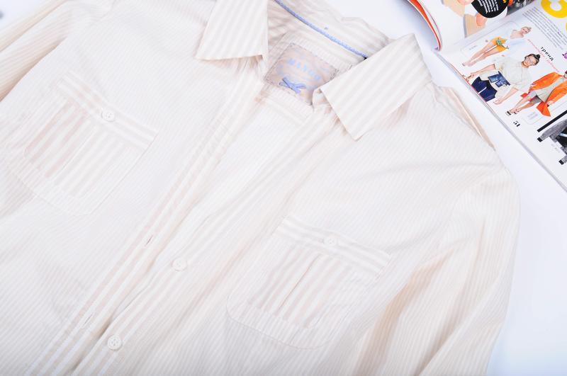 Рубашка в полоску с длинным рукавом mango - Фото 3