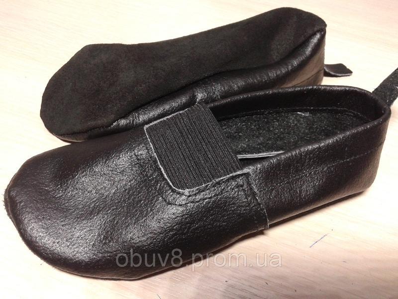 Чешки черные обувь для гимнастики оптом