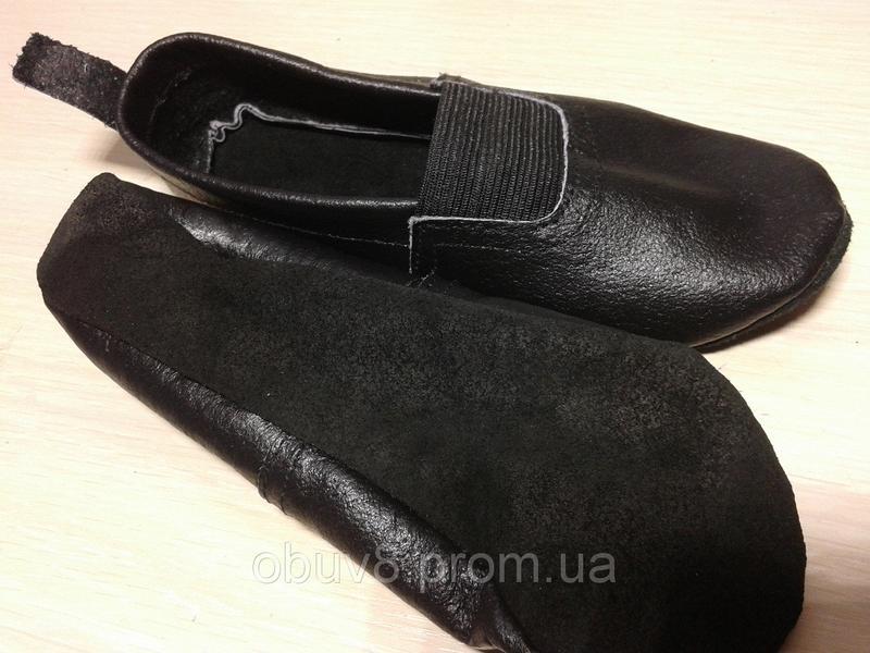 Чешки черные обувь для гимнастики оптом - Фото 2
