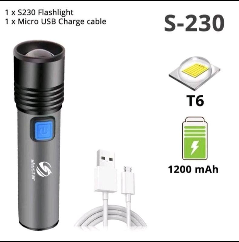 Мощный светодиодный фонарик Shustar XML-T6 LED 1000 LM Zoom 1200