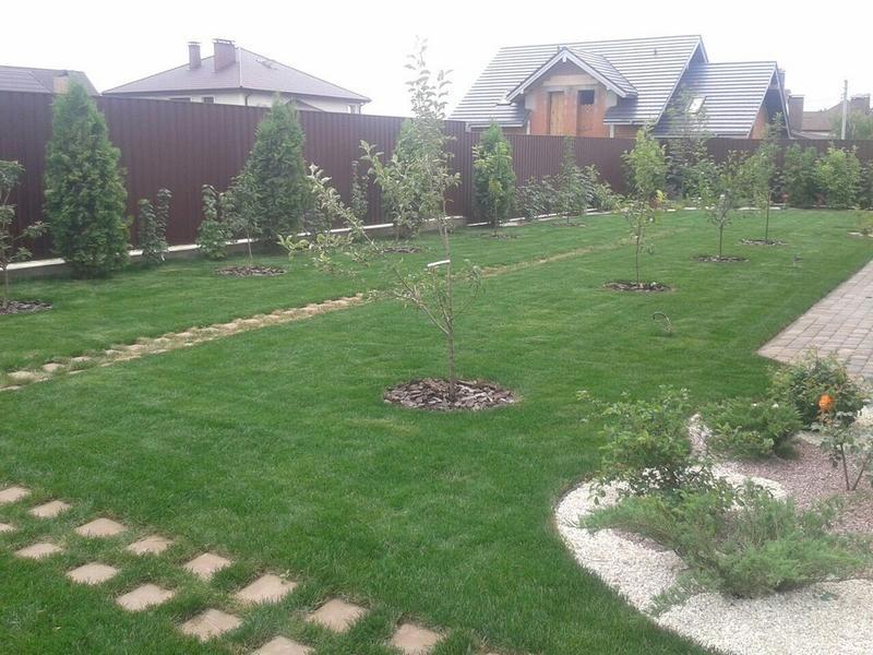 Устилка газона, подключение и консервирование поливов