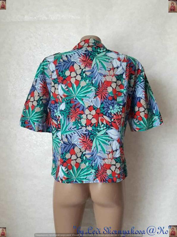 """Новая яркая рубашка в яркий принт """"пальмы""""со 100 % хлопка, раз... - Фото 2"""