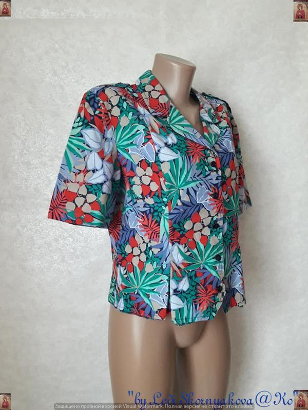 """Новая яркая рубашка в яркий принт """"пальмы""""со 100 % хлопка, раз... - Фото 3"""