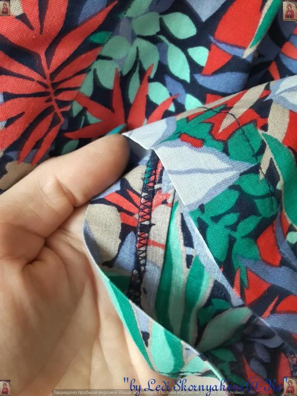 """Новая яркая рубашка в яркий принт """"пальмы""""со 100 % хлопка, раз... - Фото 6"""