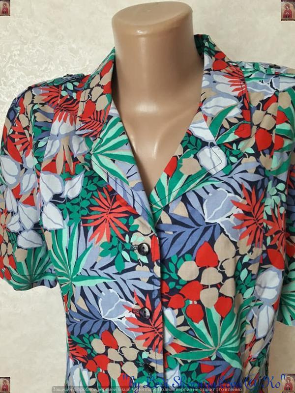 """Новая яркая рубашка в яркий принт """"пальмы""""со 100 % хлопка, раз... - Фото 7"""