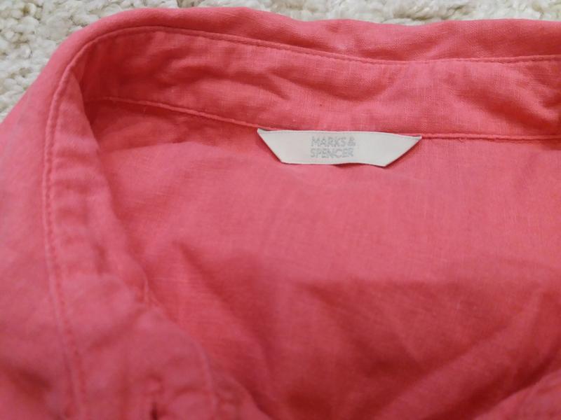 Яркая  рубашка   №17  на48-50р     лен       распродажа - Фото 9