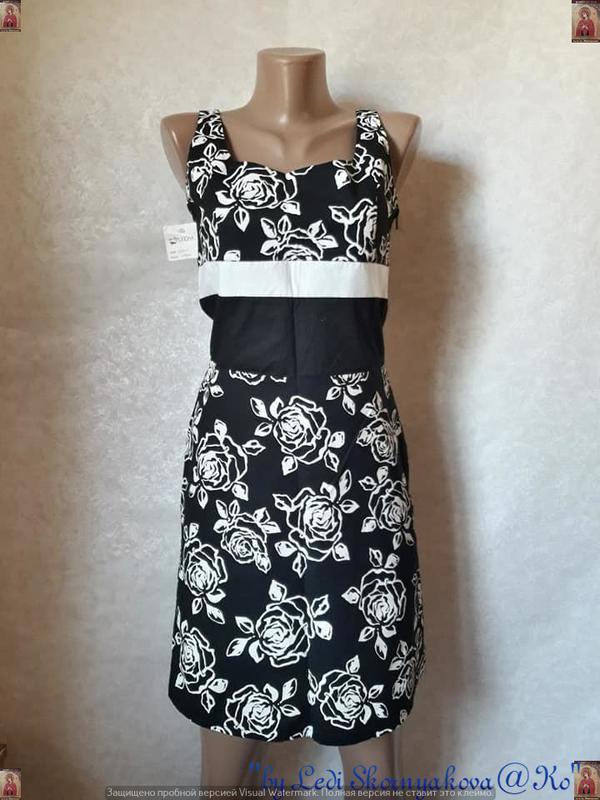 Новое с биркой нарядное платье с натурального хлопка в цветочн...