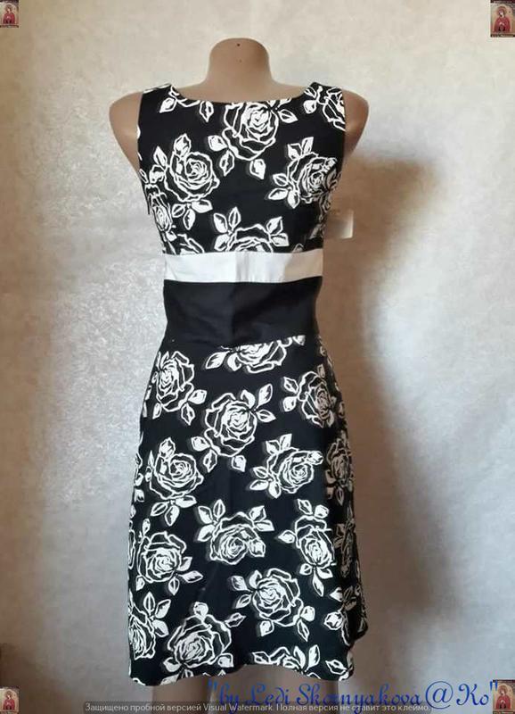 Новое с биркой нарядное платье с натурального хлопка в цветочн... - Фото 2