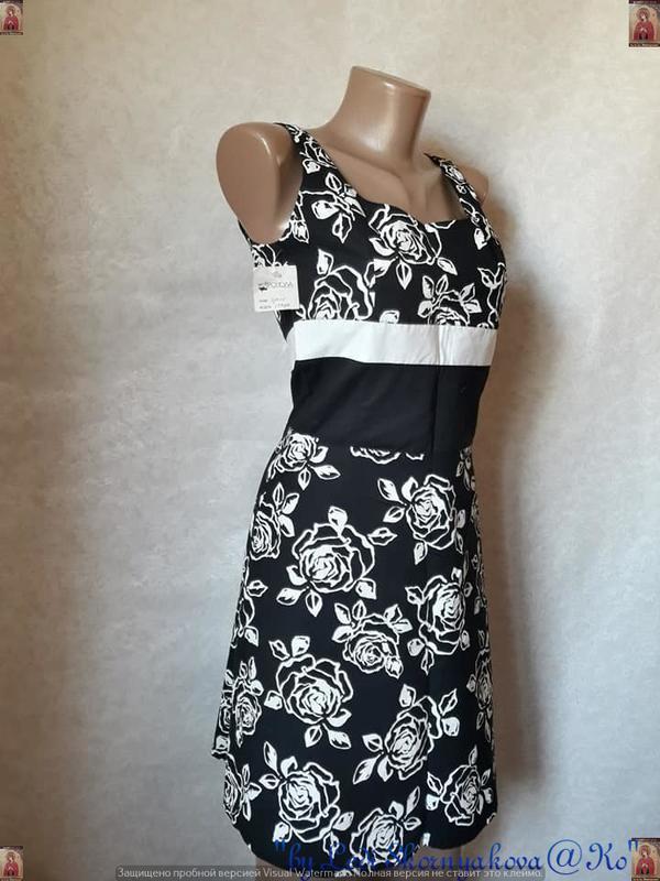 Новое с биркой нарядное платье с натурального хлопка в цветочн... - Фото 3