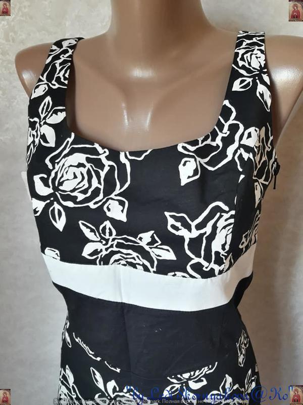 Новое с биркой нарядное платье с натурального хлопка в цветочн... - Фото 9