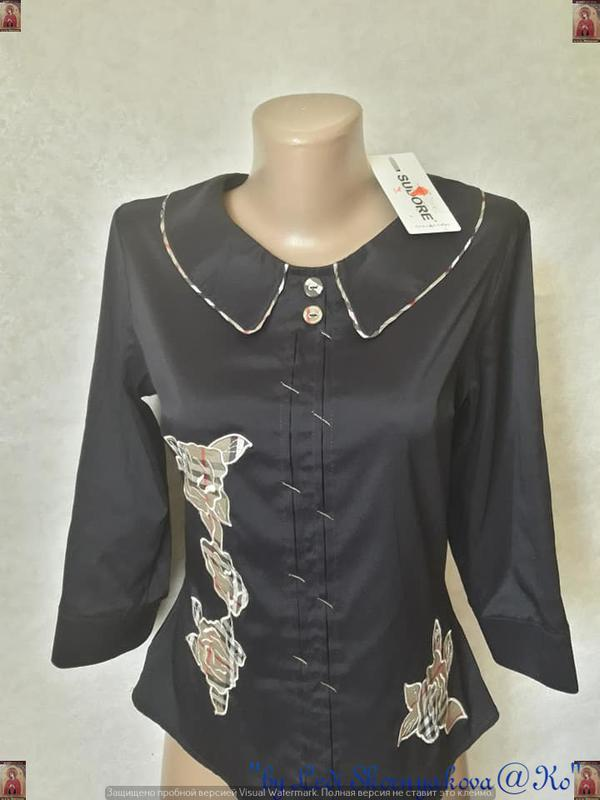 Новая с биркой нарядная блуза/рубашка с отригинальной цветочно... - Фото 3