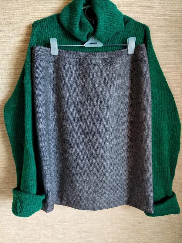 Шерстяная классическая юбка спідниця в елочку gucci