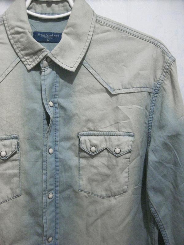Рубашка watsons urban casual style джинсовая голубая светлая к... - Фото 2