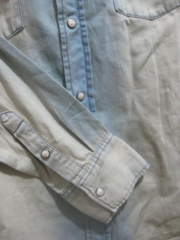 Рубашка watsons urban casual style джинсовая голубая светлая к... - Фото 3