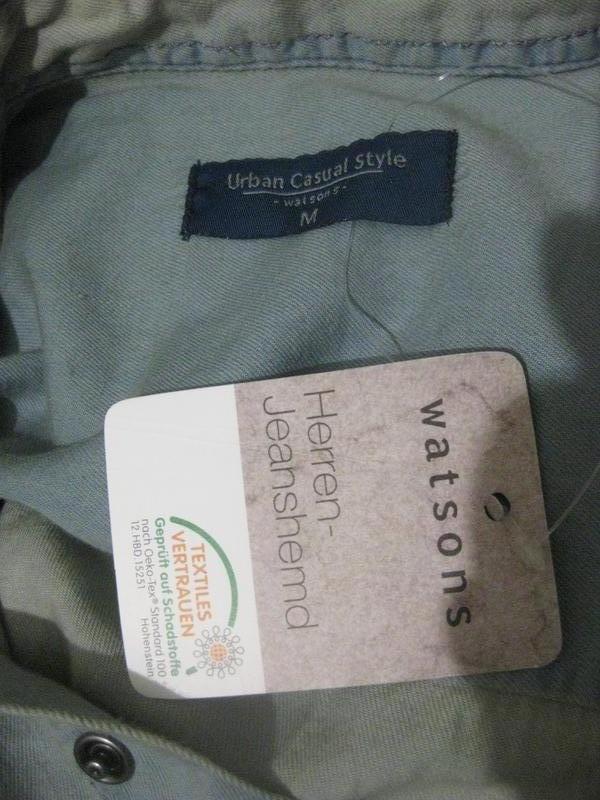Рубашка watsons urban casual style джинсовая голубая светлая к... - Фото 4