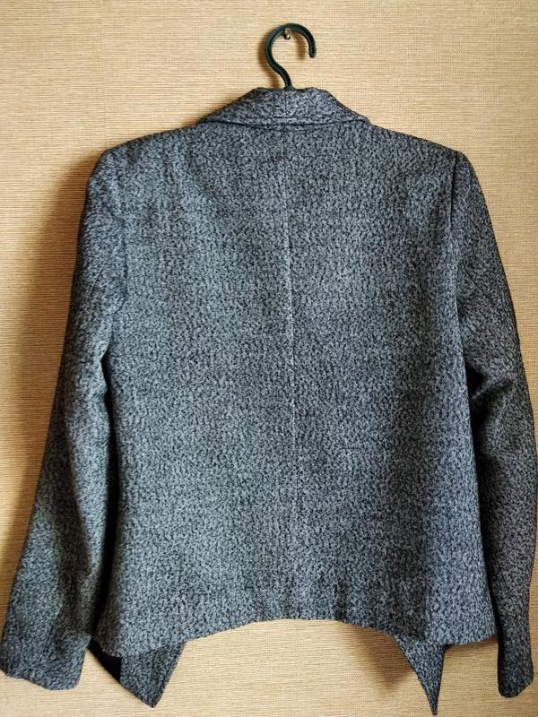 Свободный шерстяной пиджак жакет блейзер в елочку noa noa - Фото 7