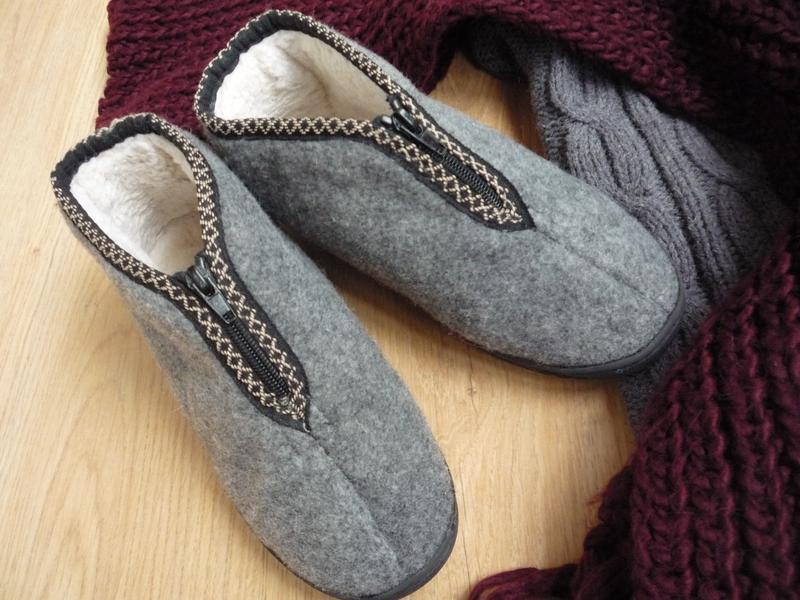 Удобные фетровые ботинки / тапки на меху / р. 38 - Фото 7