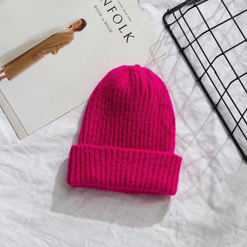 Шапка зима-осень женская тёплая мягкая розовая двусторонняя с ...