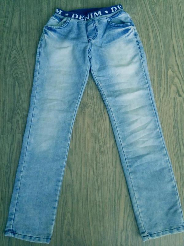 Детские джинсы на мальчика 9-10 лет - Фото 2