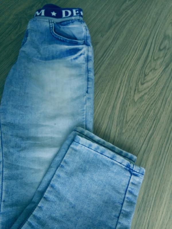 Детские джинсы на мальчика 9-10 лет - Фото 4