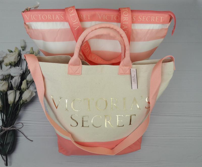 Набор: сумка и сумка кулер victoria's secret