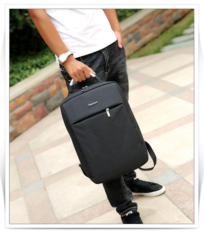 Городской рюкзак usb для ноутбука серый - Фото 7
