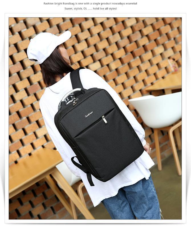 Городской рюкзак usb для ноутбука серый - Фото 9